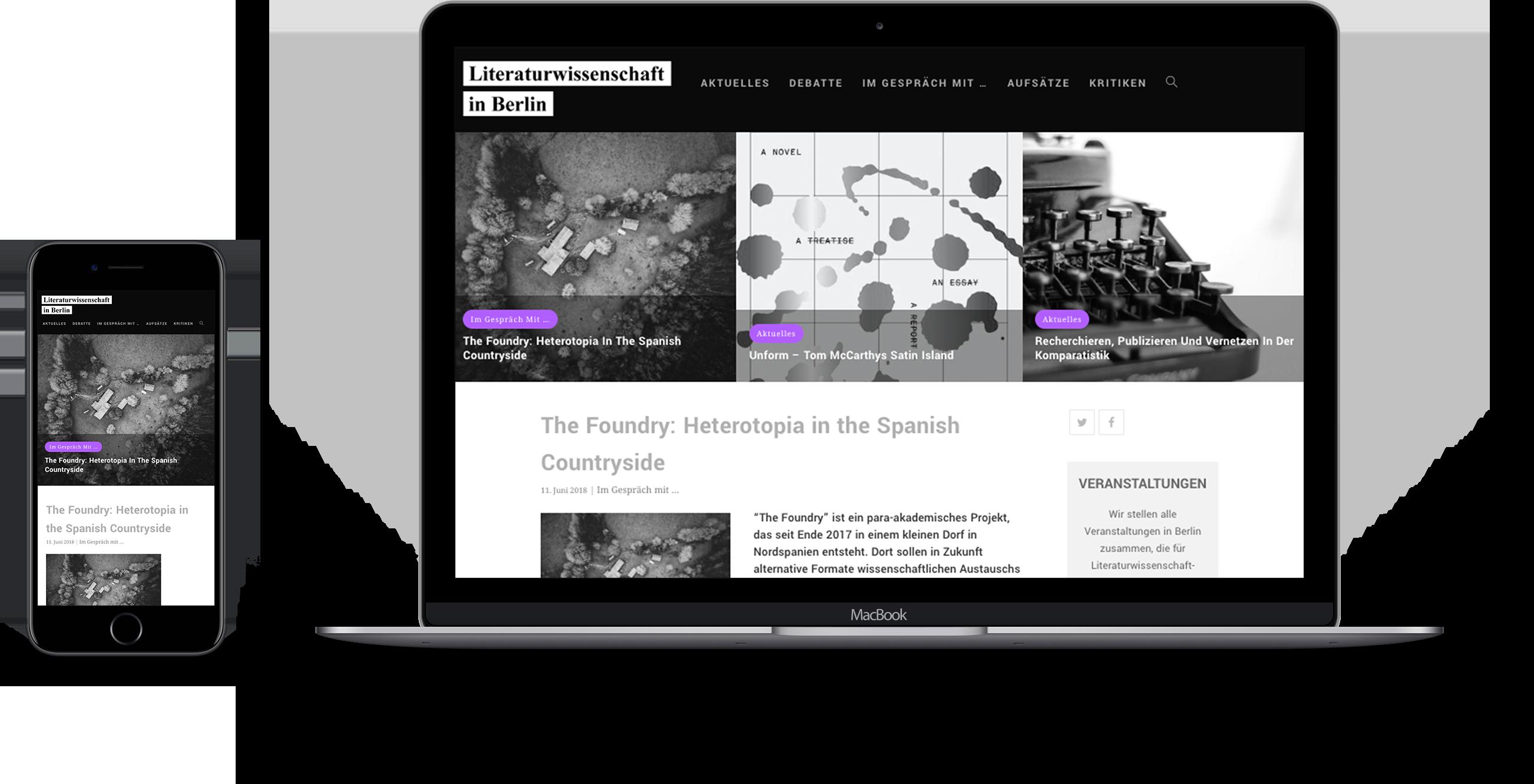 Design für den Blog Literaturwissenschaft Berlin