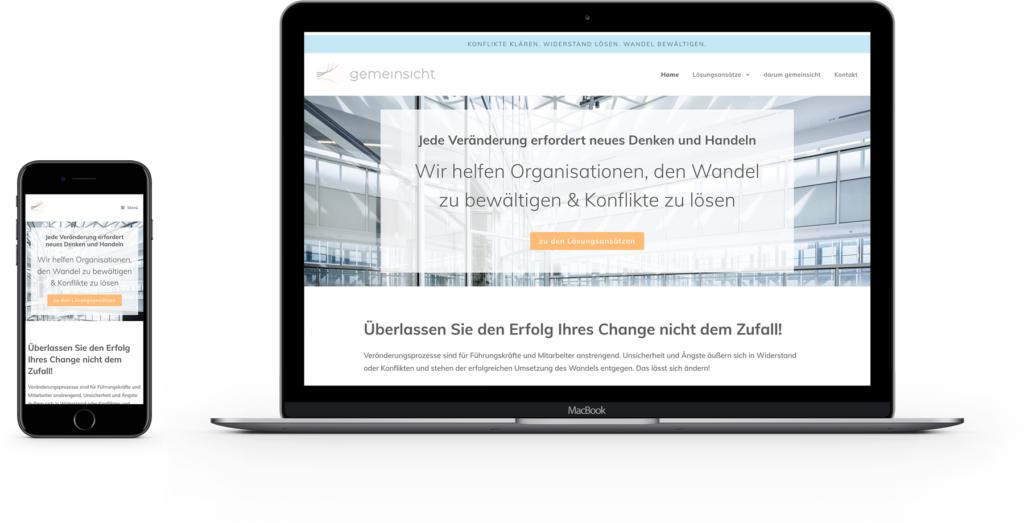 Lisa Breyer Grafikdesign Website Design für gemeinsicht