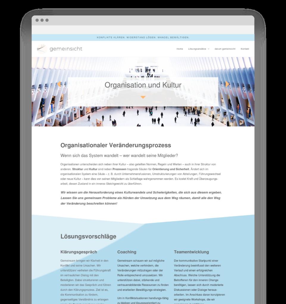 Lisa Breyer Grafikdesign gemeinsicht Website Design Detail